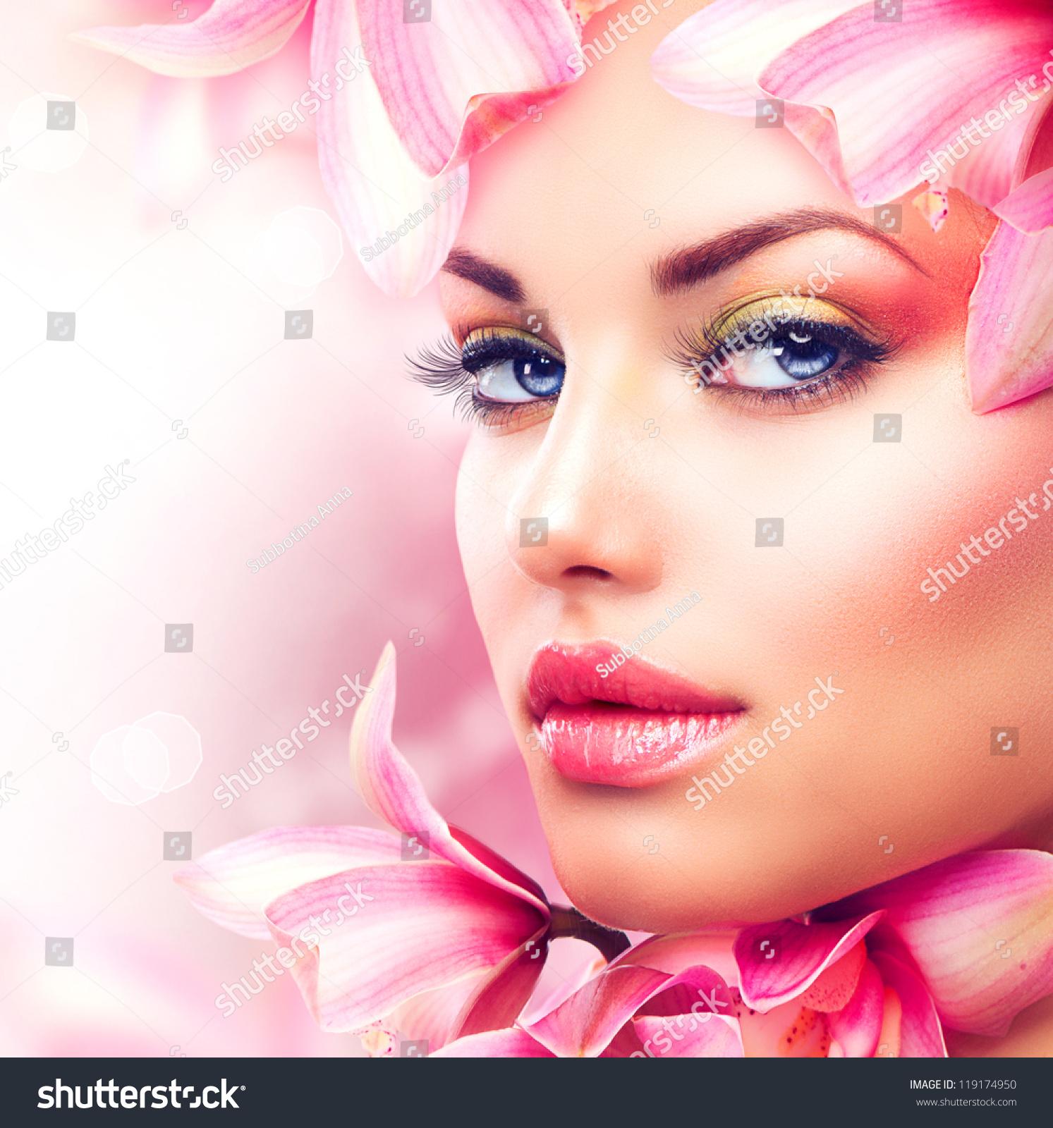 beauty girl face make - photo #41