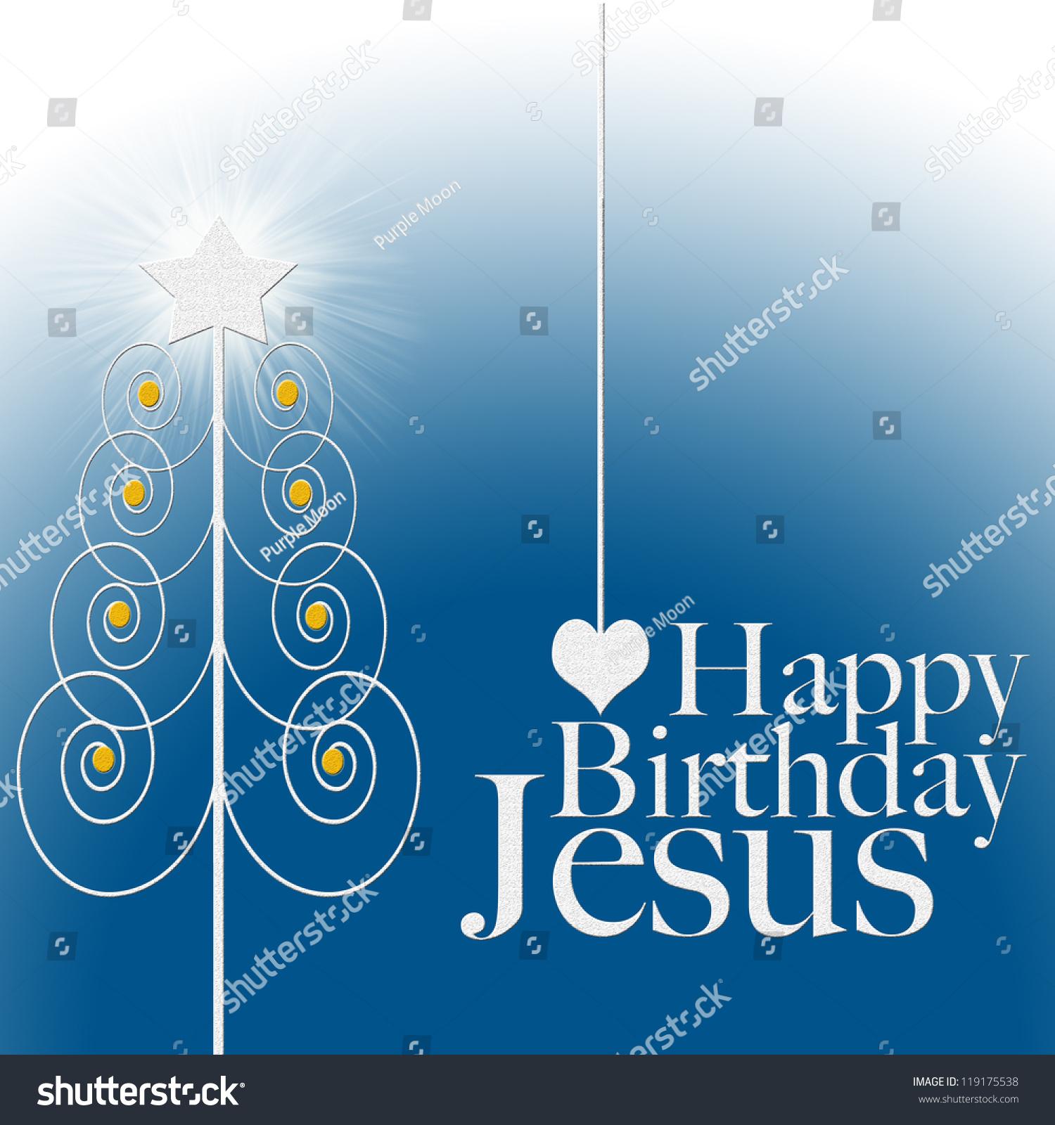 Happy Birthday Jesus Christmas Card Stock Illustration 119175538 ...