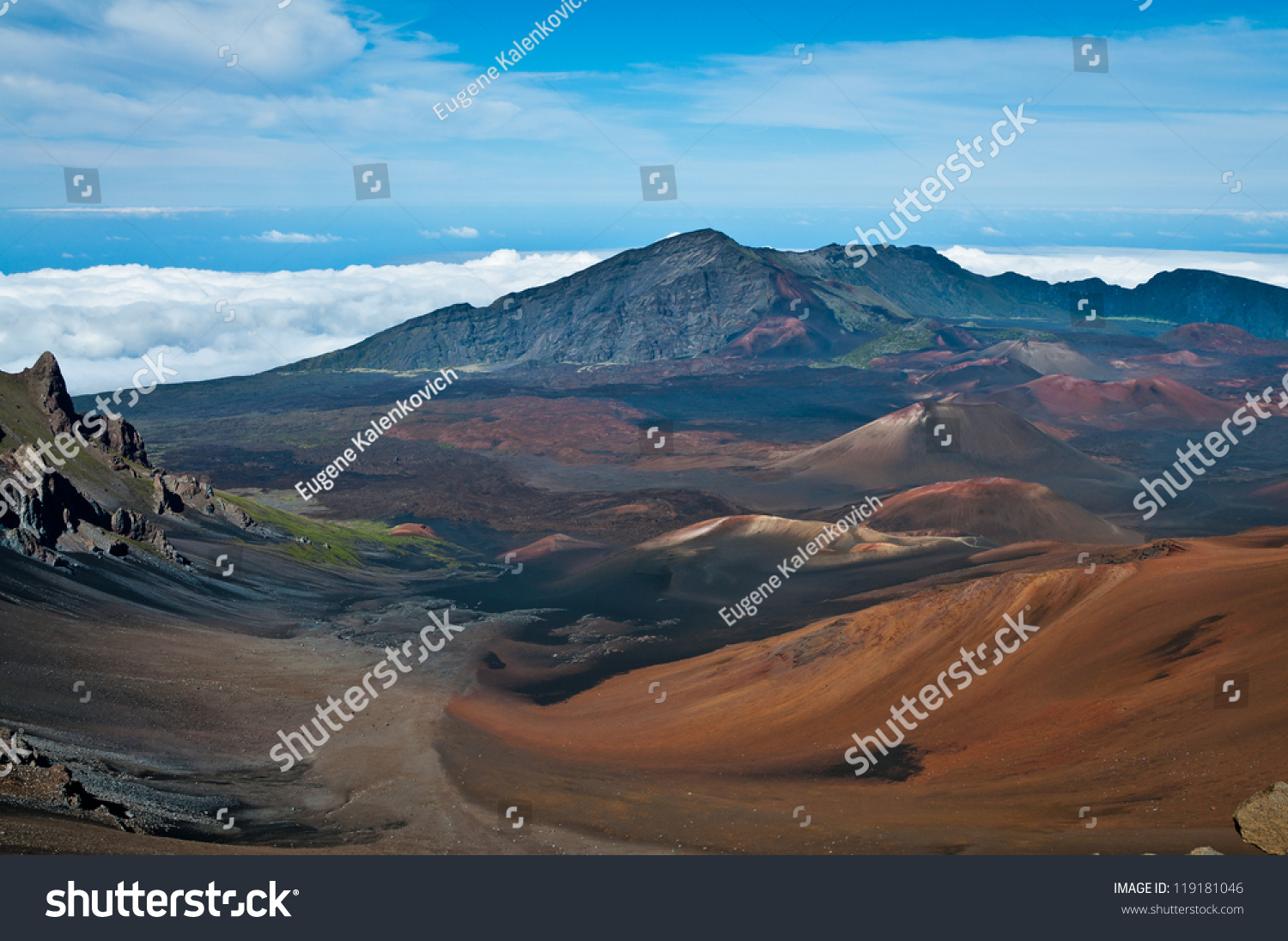 Haleakala Crater Haleakala National Park Hawaii Stock Photo Edit Now 119181046
