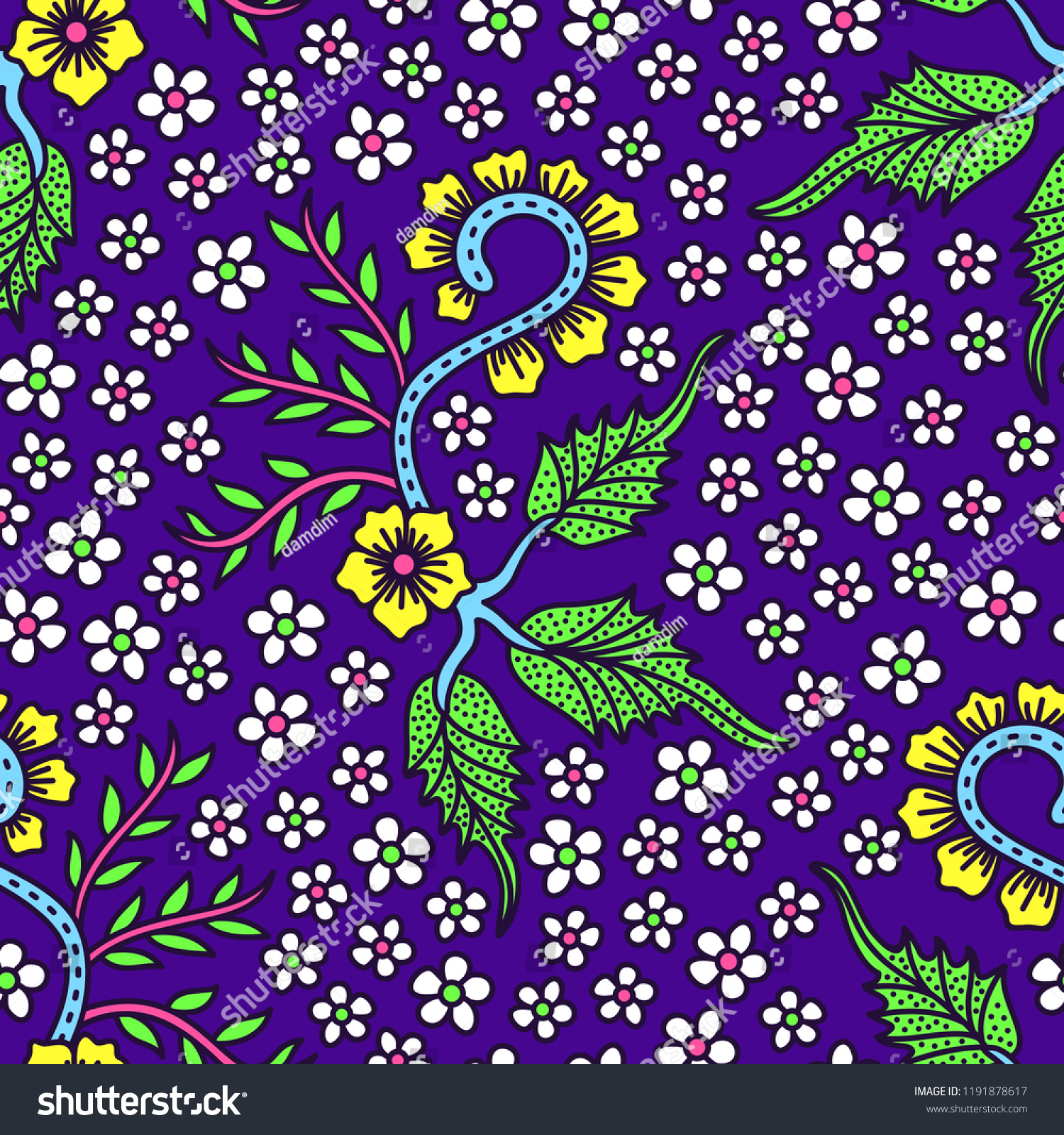 Batik Gajah Oling Banyuwangi Indonesia Stock Vector Royalty Free