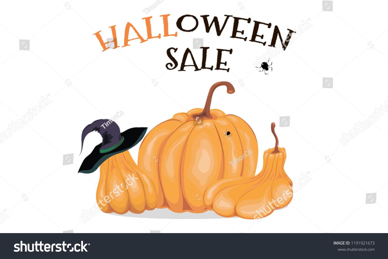 halloween background sale vector illustration template stock vector