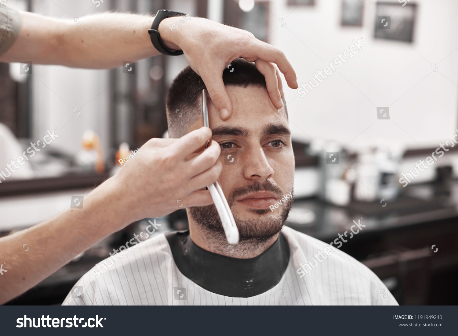 Hair Care Mens Hairstyles Hairdressing Salons Stock Photo (Edit Now ...