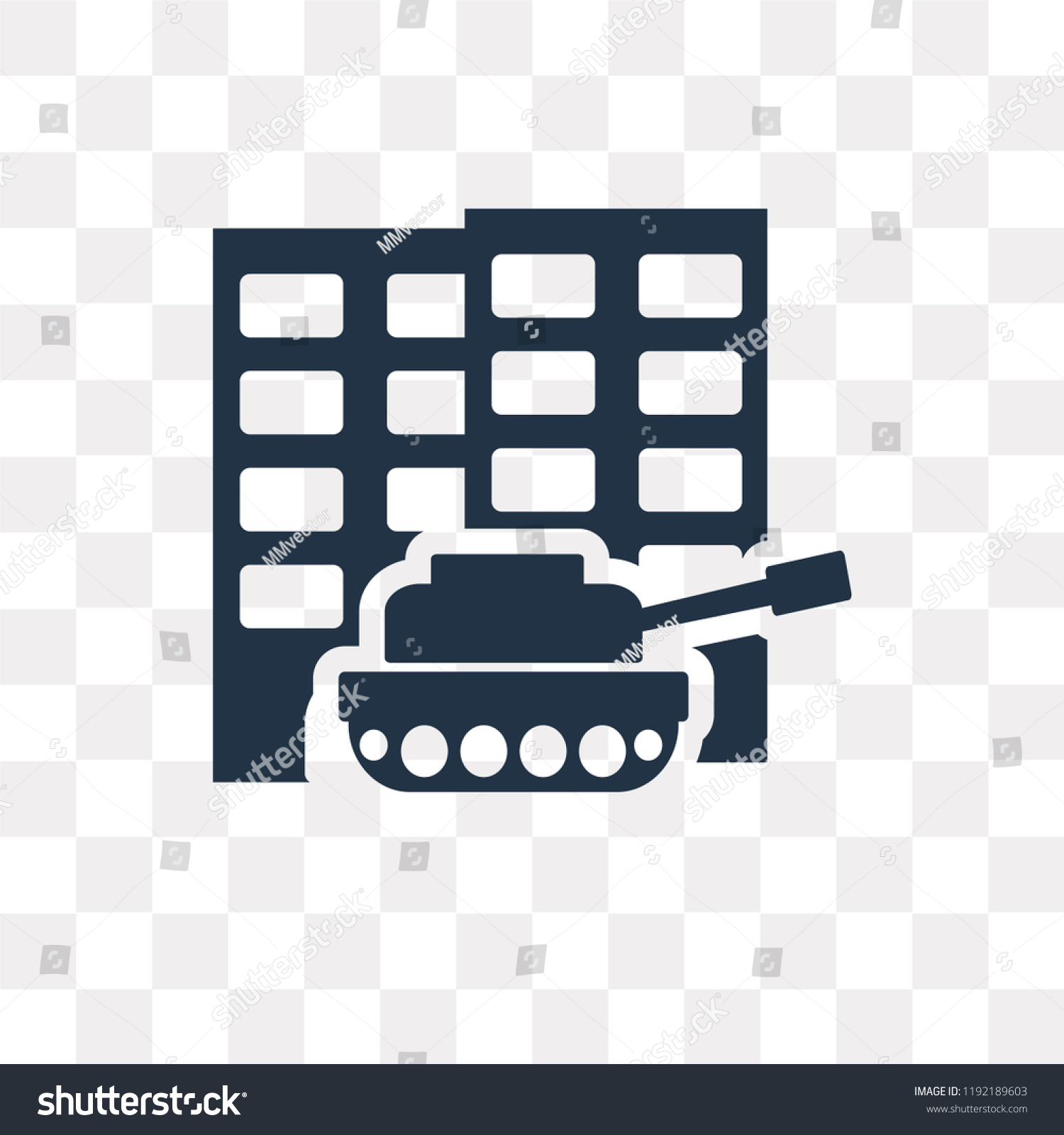 militar tank city street vector icon stock vector royalty free 1192189603 shutterstock
