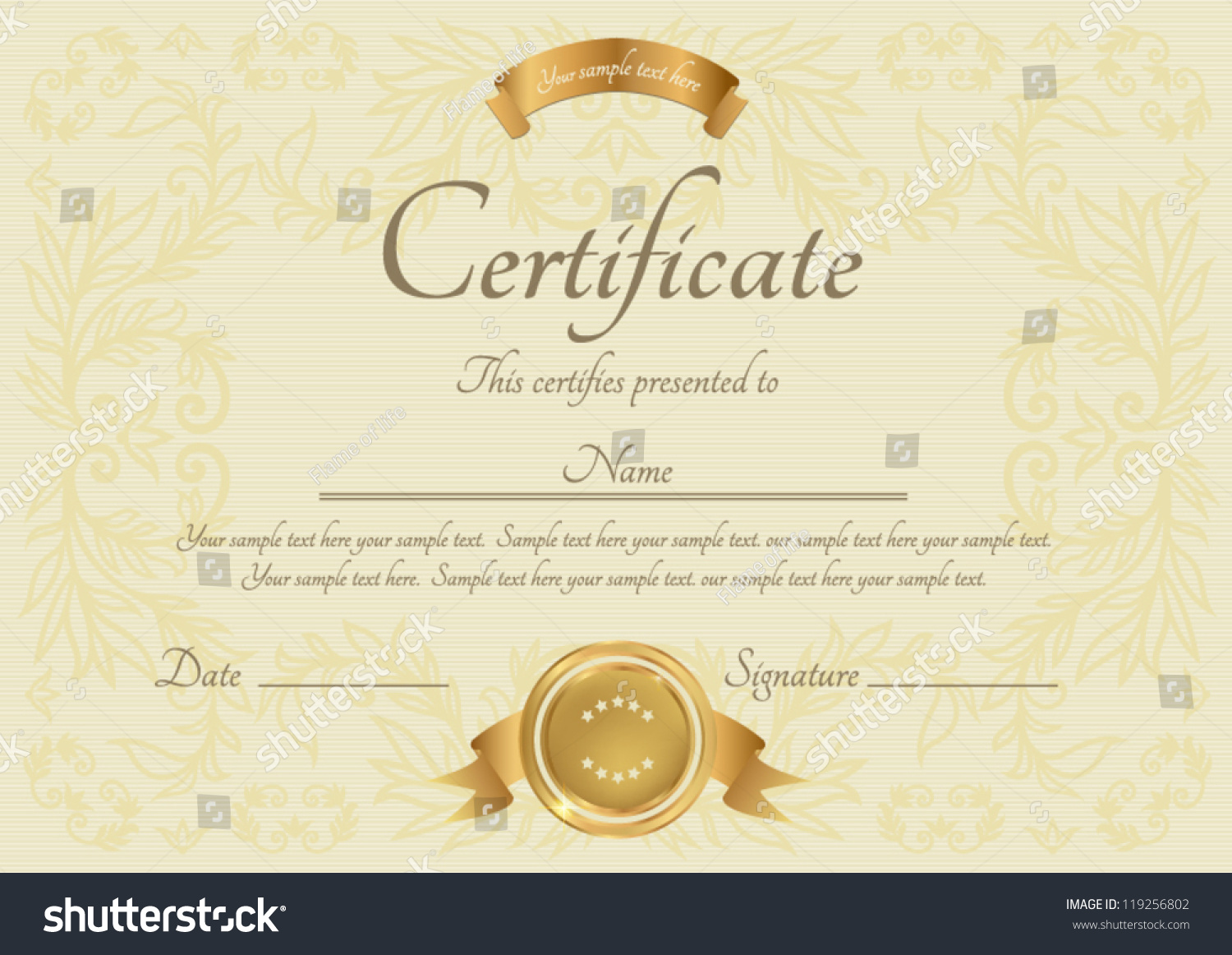 Free certificate of completion template benefits analysis template free templates for certificates of completion royalty free avopix 119256802 free templates for certificates of completion xflitez Choice Image