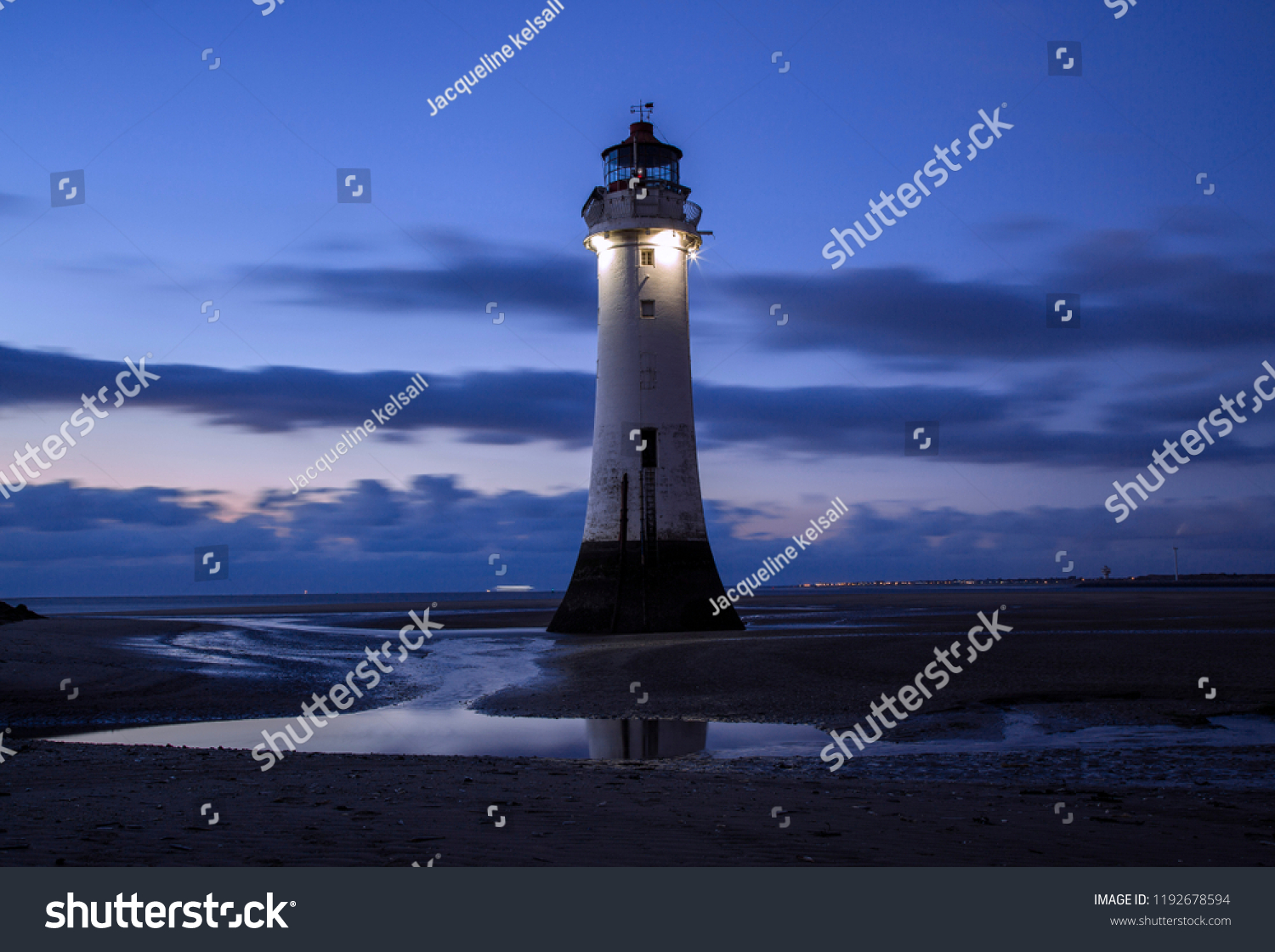 Perch Rock Lighthouse . New Brighton . Wirral .Merseyside