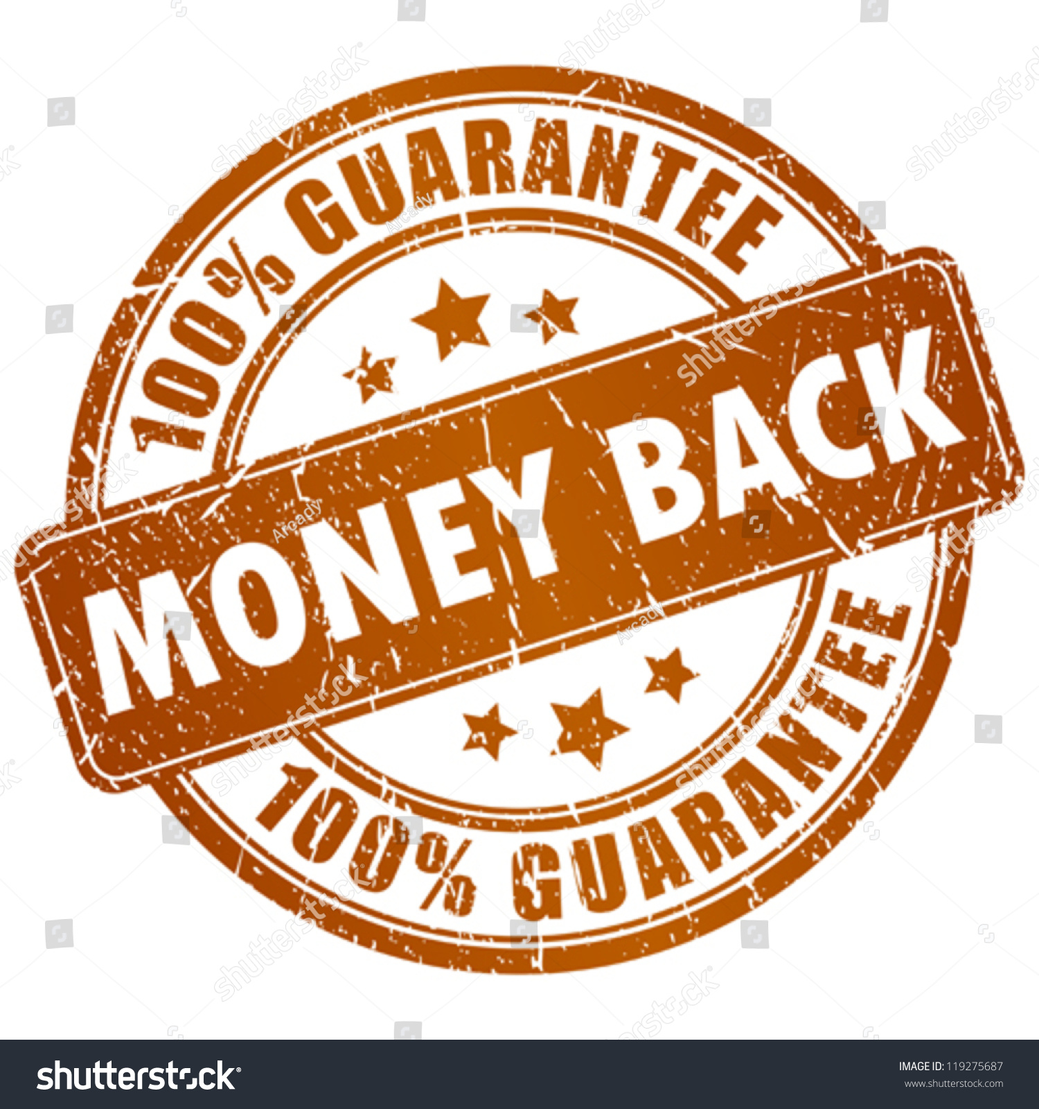 Money Back Vector Stamp Stock Vector 119275687 - Shutterstock