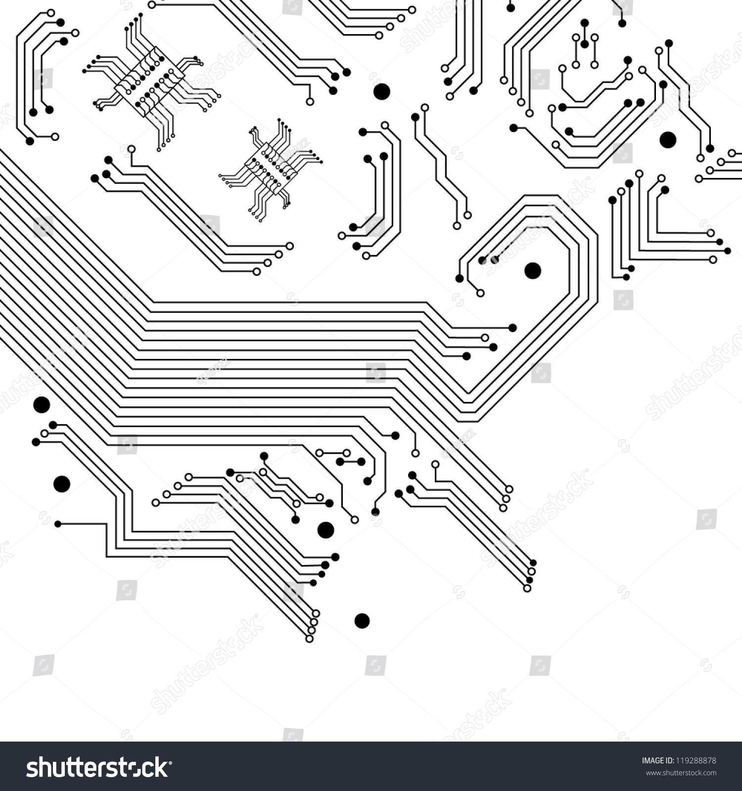 Digital Background Electric Circuit Vector Illustration Stock Vector ...