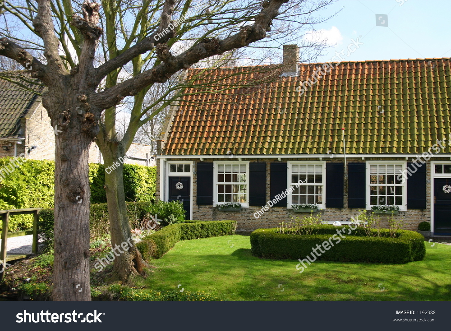 Traditional dutch house stock photo 1192988 shutterstock for Classic dutch house of 60m2
