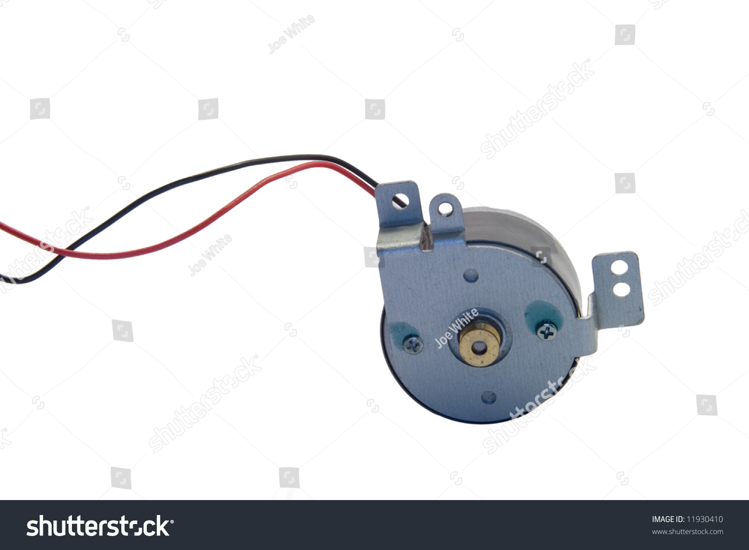 Direct Current Dc Electric Motor With Wires Against