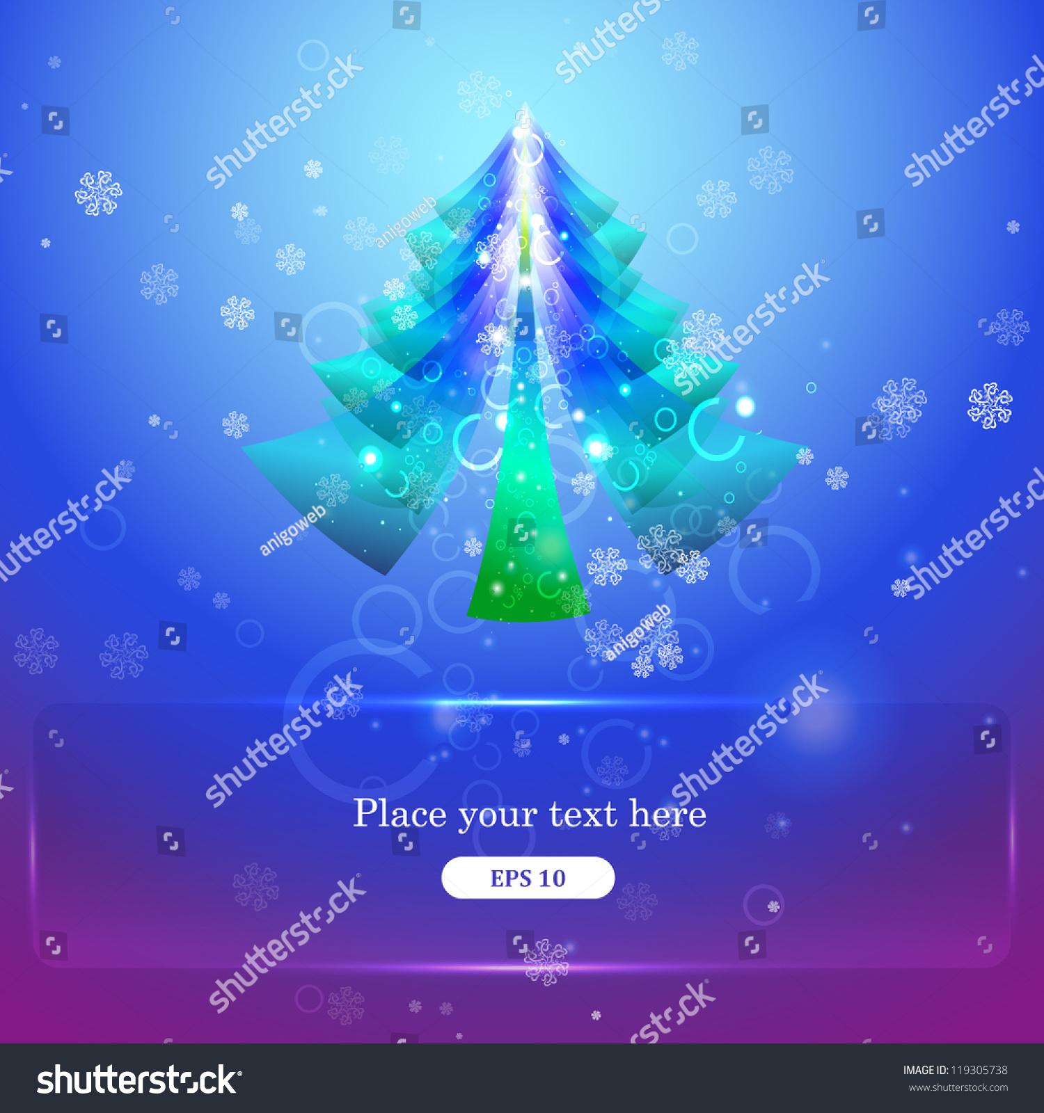 Beautiful Christmas Tree Christmas Card Stock Vector (Royalty Free ...