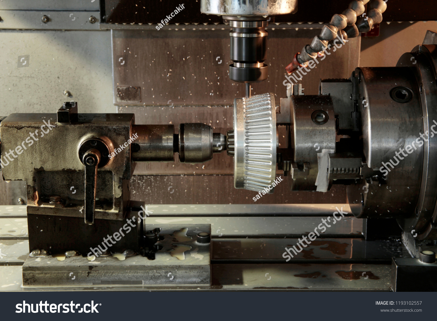 CNC Milling Work Stock Photo (Edit Now) 1193102557