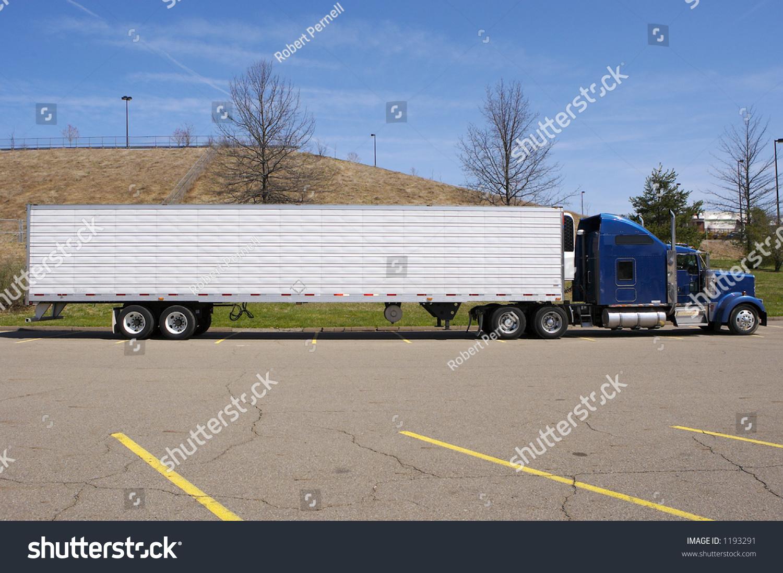 Tractor Trailer Stock : Tractor trailer semi truck side view stock photo