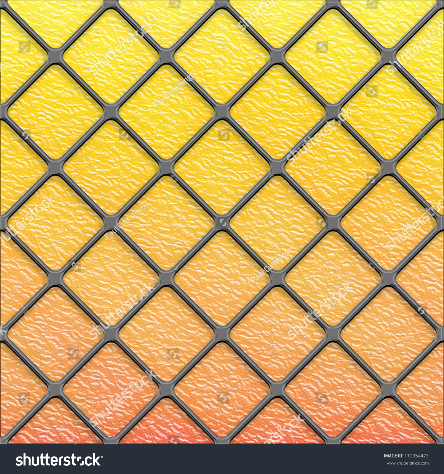 Seamless Golden Diagonal Stained Glass Texture Stock Illustration