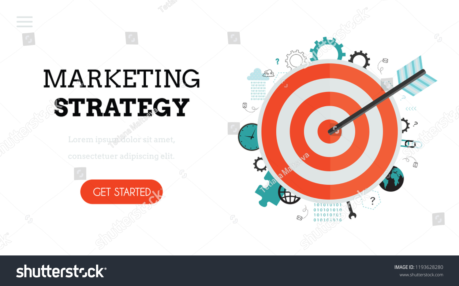 Target With An Arrow Goal Achievement Flat Vector Illustration For Web