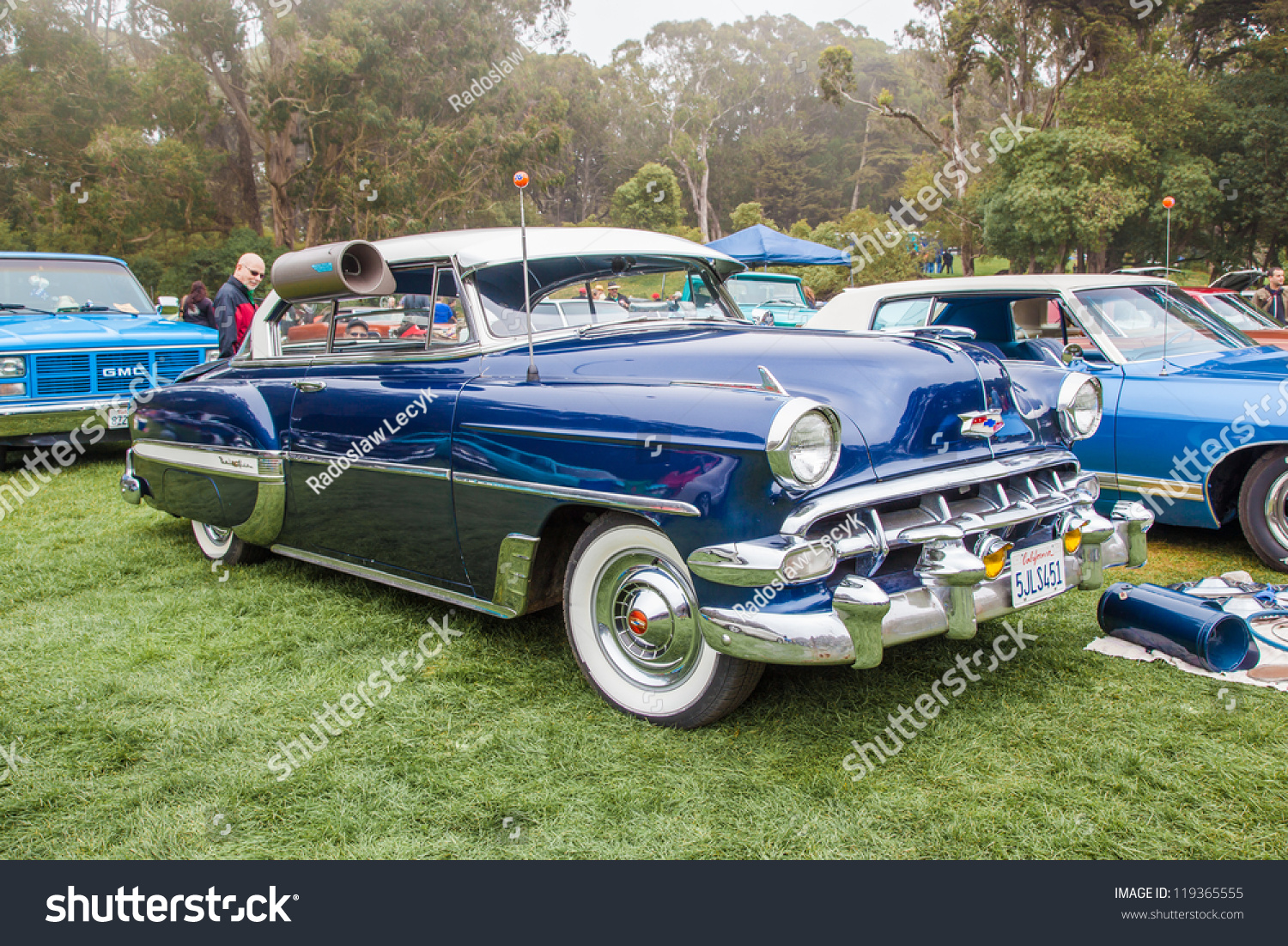 San Francisco September 29 1954 Chevrolet Stock Photo Edit Now Chevy Bel Air A Is On Display During The