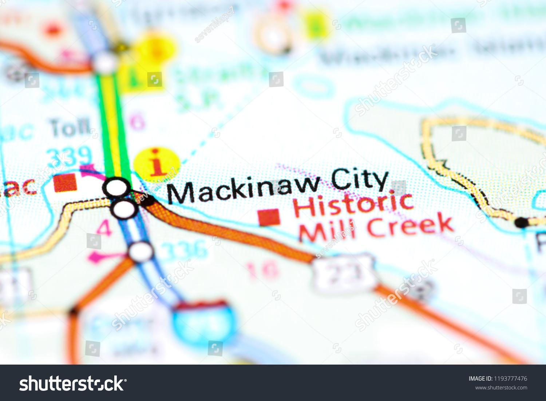 Mackinaw City Michigan Usa On Map Stock Photo (Edit Now ... on tawas map, united states map, st. ignace map, ironwood map, kalkaska map, cheboygan map, sault ste. marie map, petoskey state park map, gaylord map, dearborn map, holt mi map, port of indiana map, city of petoskey street map, canon city riverwalk trail map, mackinac island map, mackinac county map, michigan map, superior map, peninsula township map, ypsilanti map,