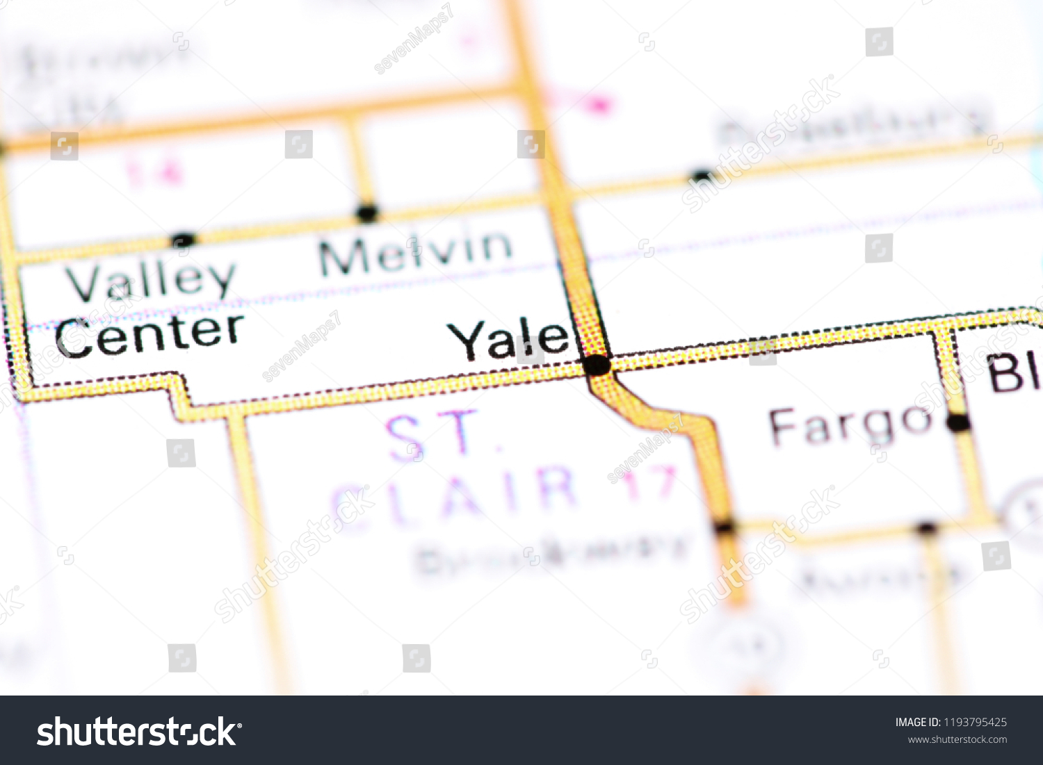 Yale Michigan Usa On Map Stock Photo (Edit Now) 1193795425 on princeton map, mermaid map, harvard map, bates map, thames river on world map, wagner map, union map, amherst map, unitec map, ohio u map, london location on world map, west texas a&m map, albany state map, grambling state map, university of pennsylvania map, clayton map, city borders map, englewood map, ceibs map, loyola map,