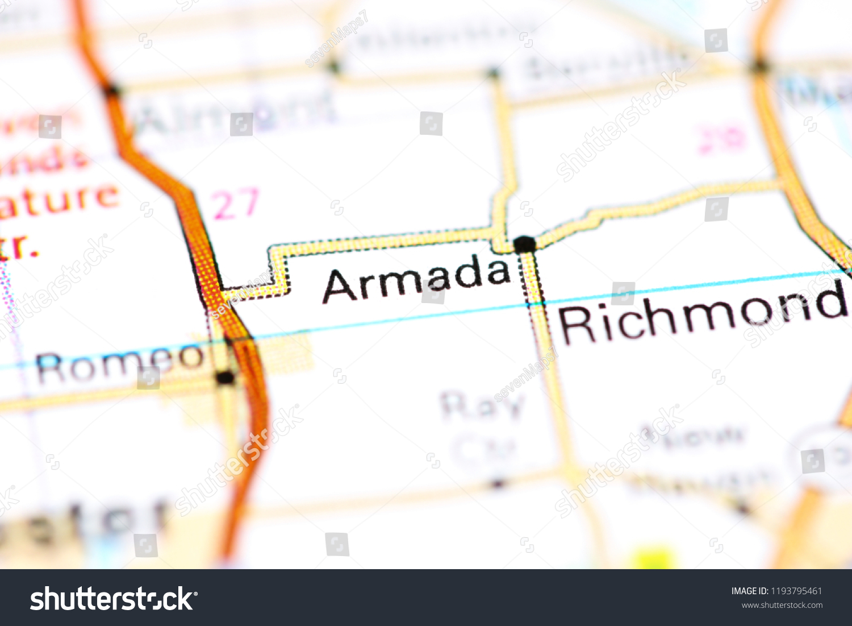 Armada Michigan Usa On Map Stock Photo Edit Now 1193795461