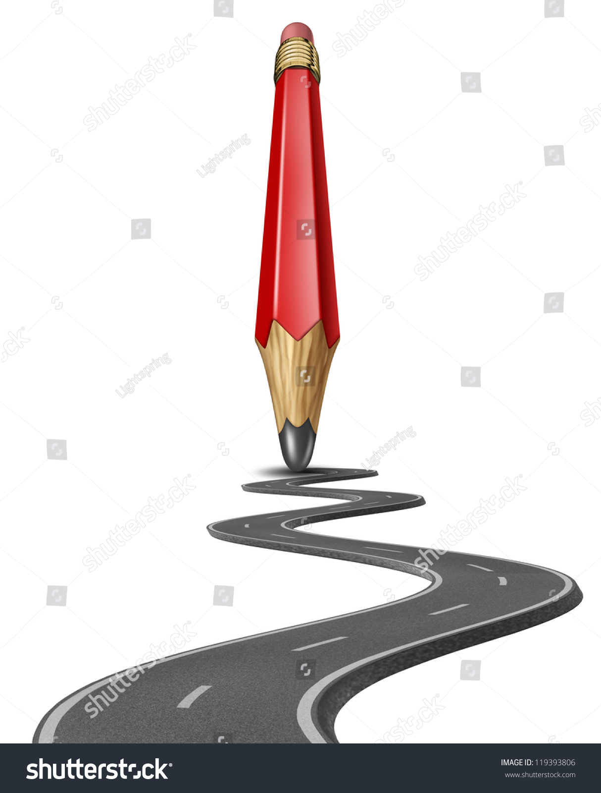 Make Your Own Path Draw Business Stock Illustration