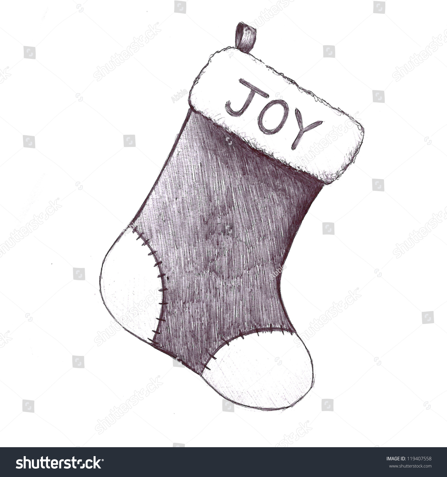 Christmas Stockings Clipart Free Stock Photo Hand Drawn Sketch Of Christmas Clip