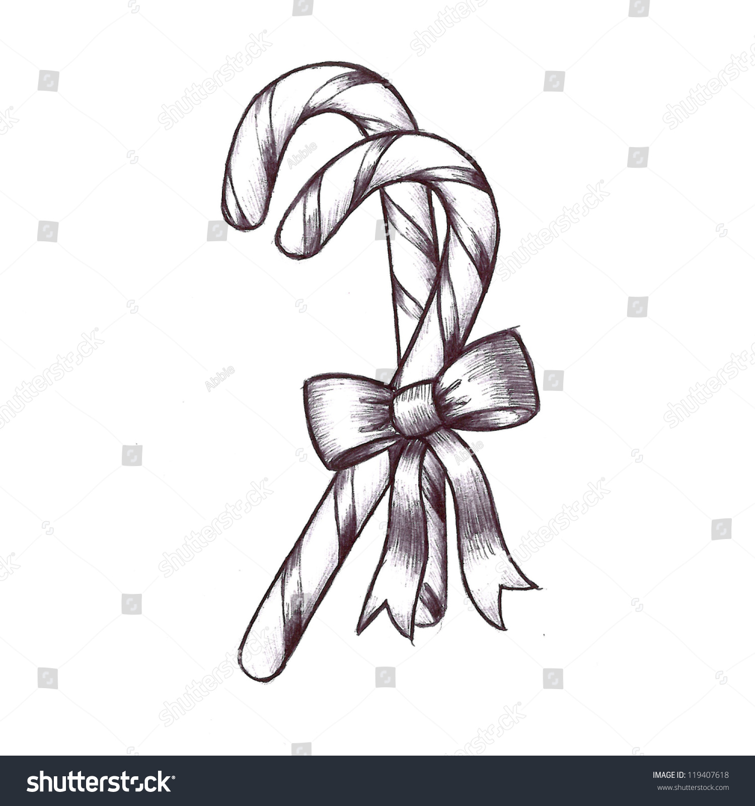 hand drawn sketch christmas clip art stock illustration 119407618