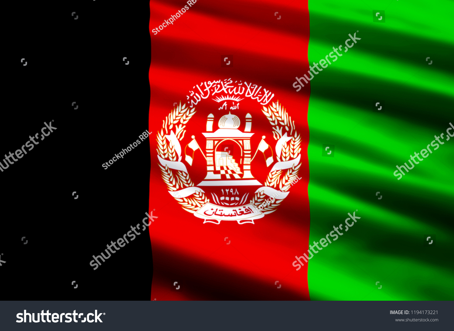 Stylish afghanistan flag pictures
