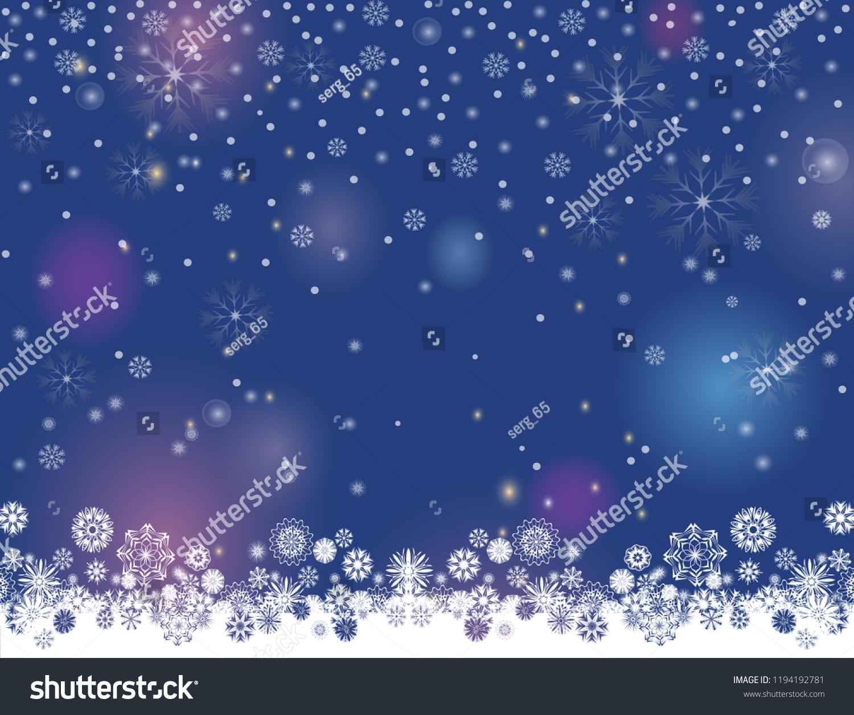 vetor stock de falling snow magic border on dark livre de direitos