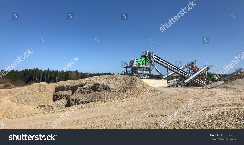 gravel mined pit bavaria stock photo edit now 1194332233