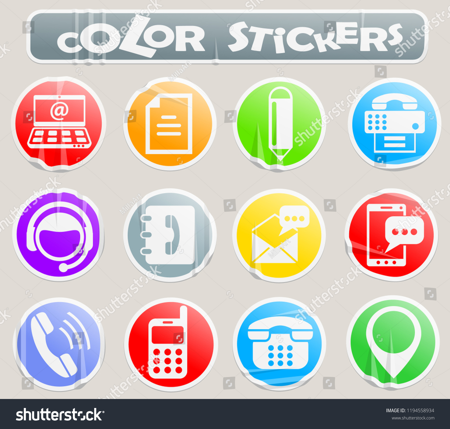 Contact us color stickers