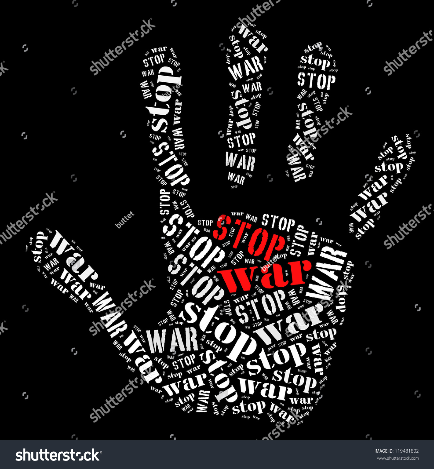 ¡¡¡ STOP WAR - ROS !!! - Canciones de guerra (songs of peace) Stock-photo-stop-war-word-collage-in-black-background-119481802