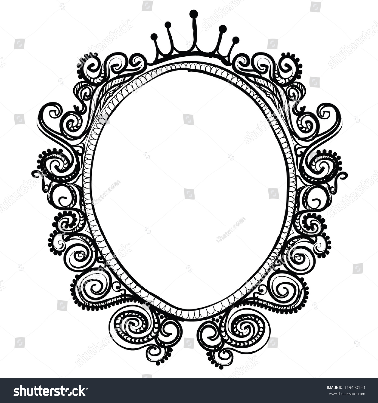 vintage frame sketch vector isolated on stock vector