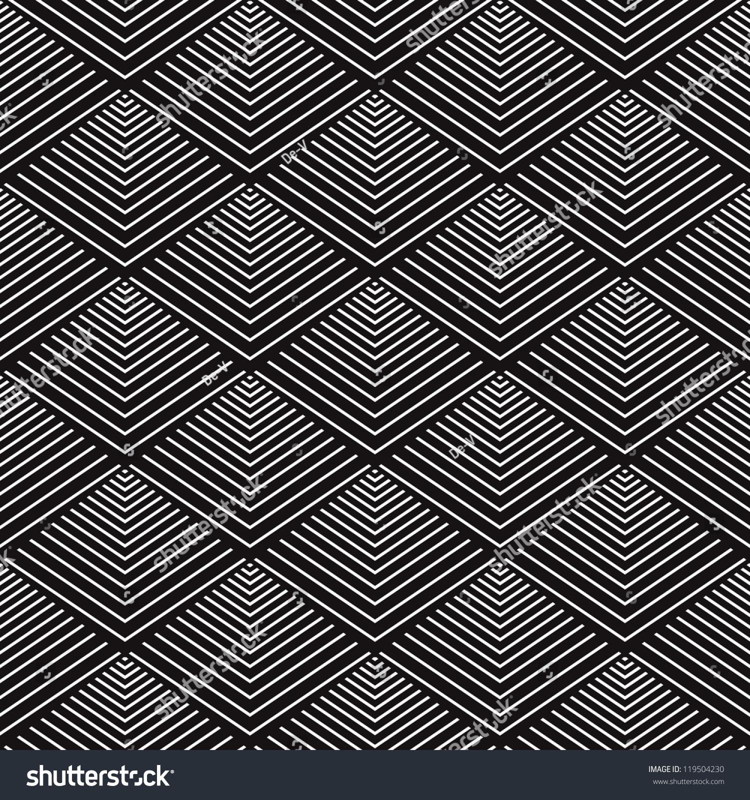 Ethnic modern geometric seamless pattern ornament stock for Object pool design pattern