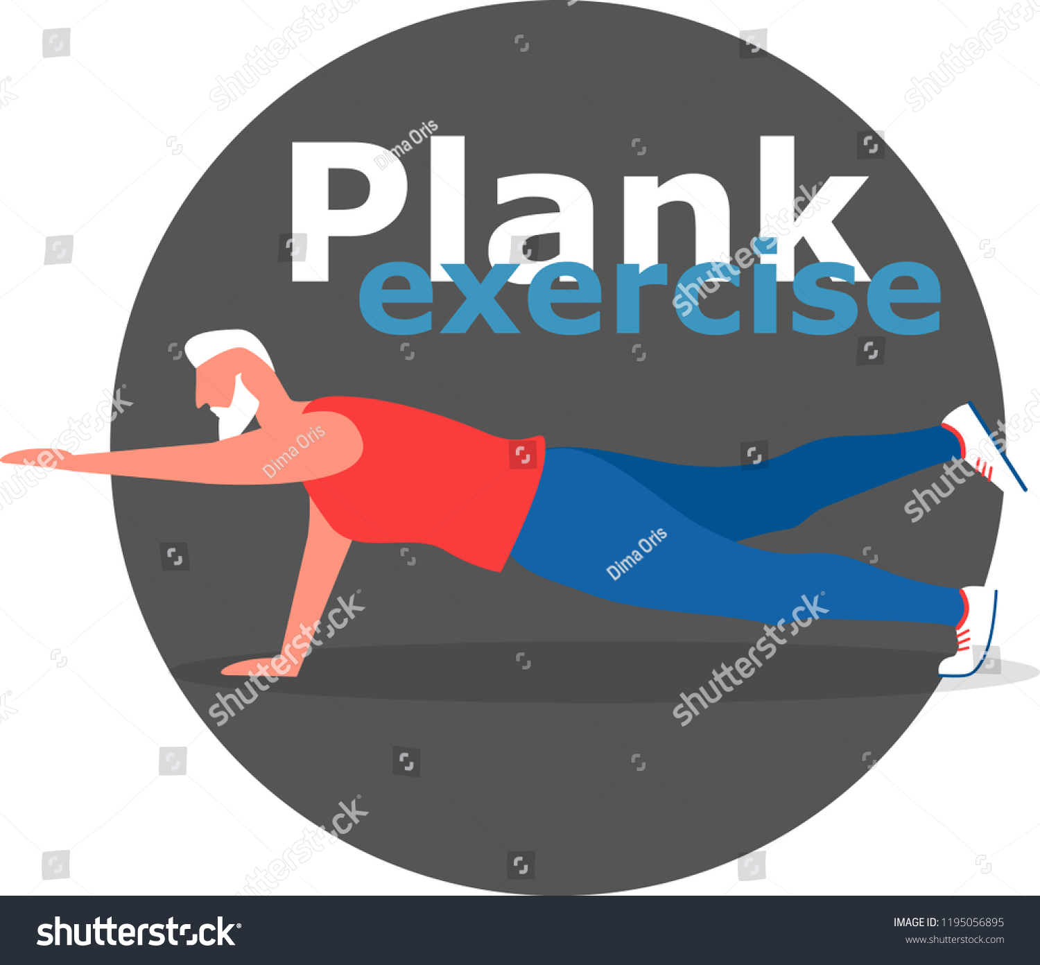 Fitness Man Doing Planking Exercise Planksgiving People Sports Recreation Stock Image