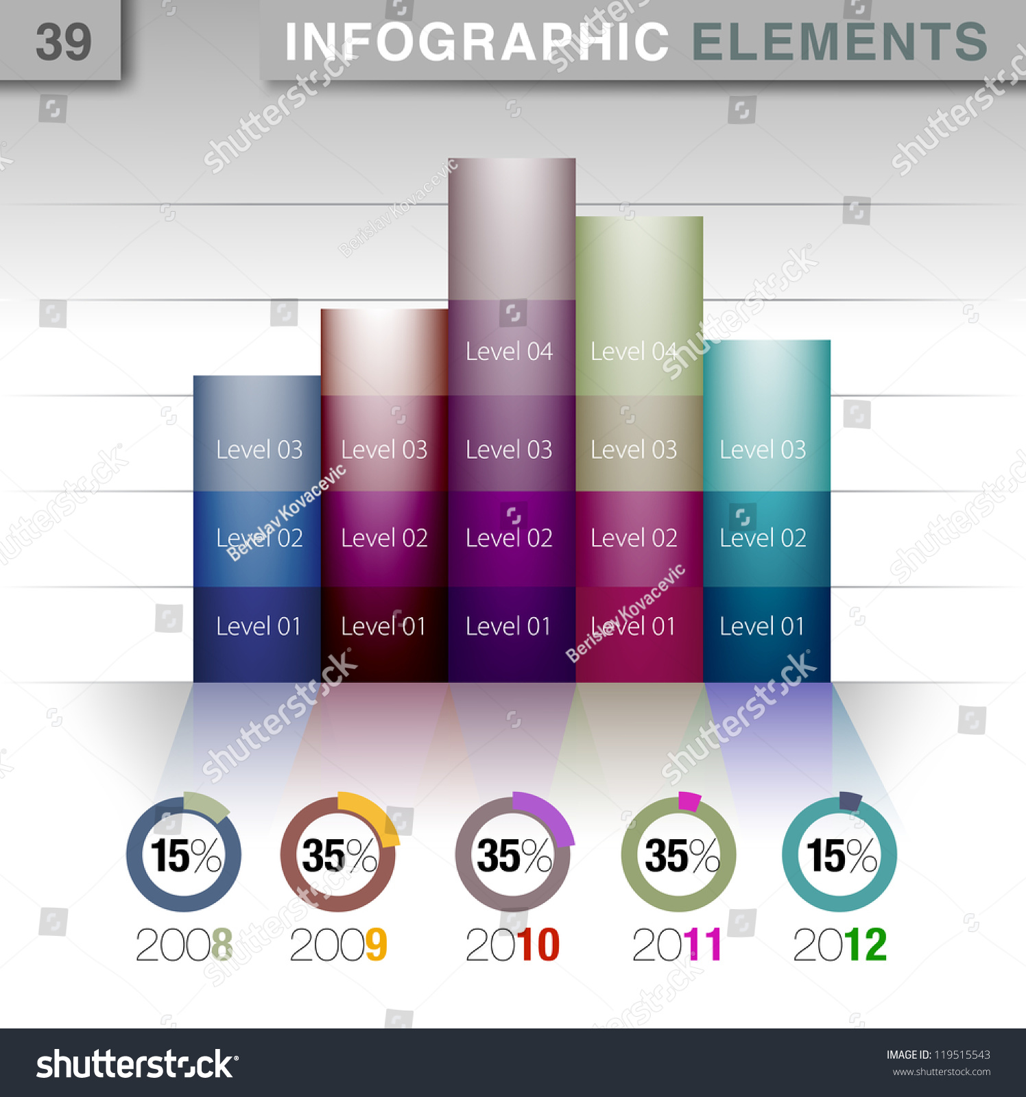 Infographic Presentation Template Graph Pie Chart Vector – Element Chart Template