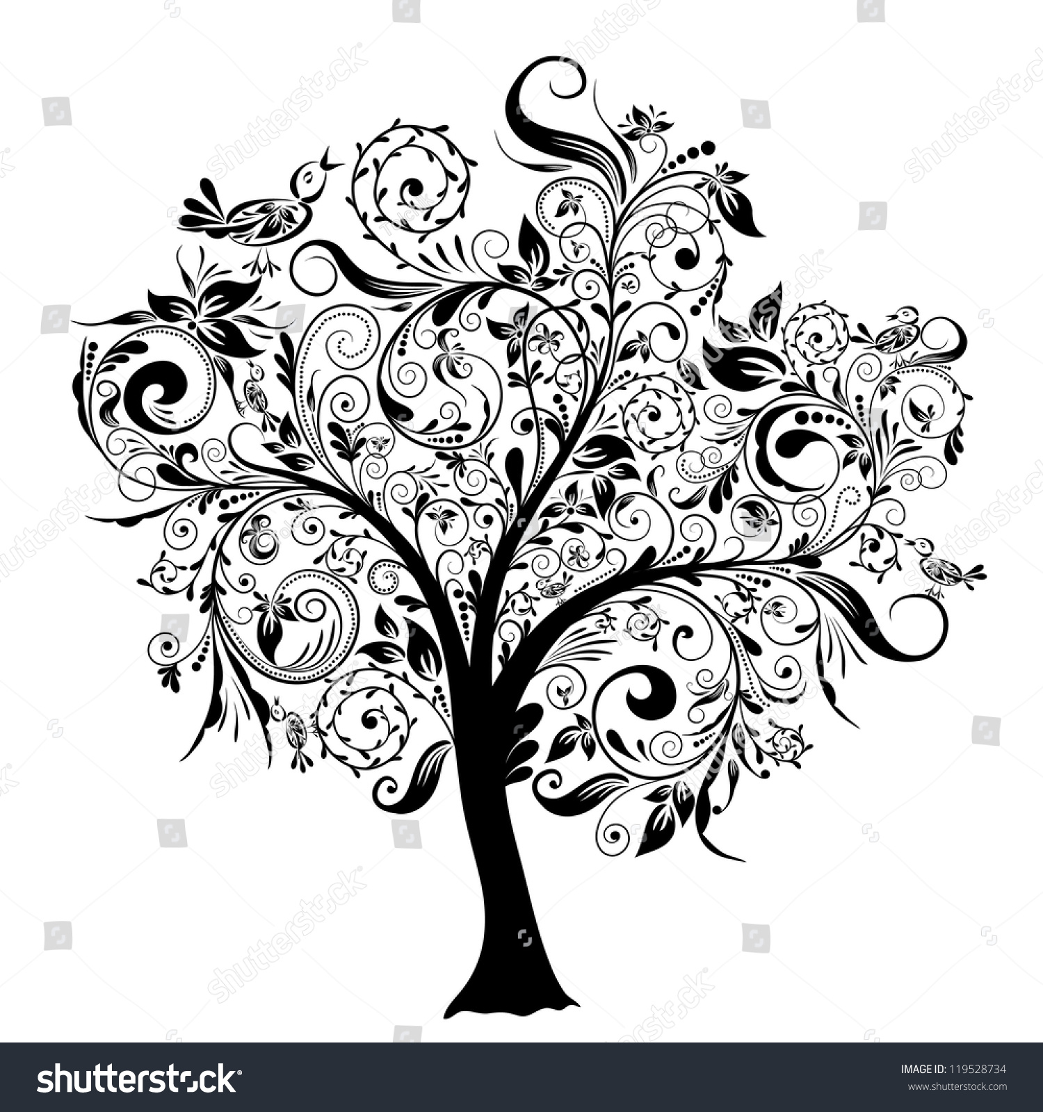 digital listing decorative tree il clip art zoom decor ca fullxfull branches clipart