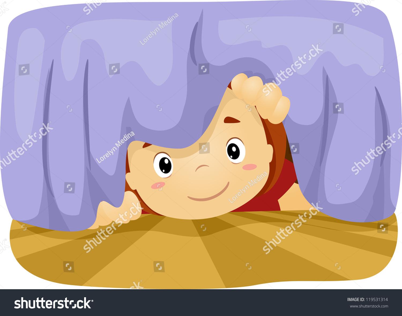 ... Of A Boy Taking A Peek Under The Bed - 119531314 : Shutterstock