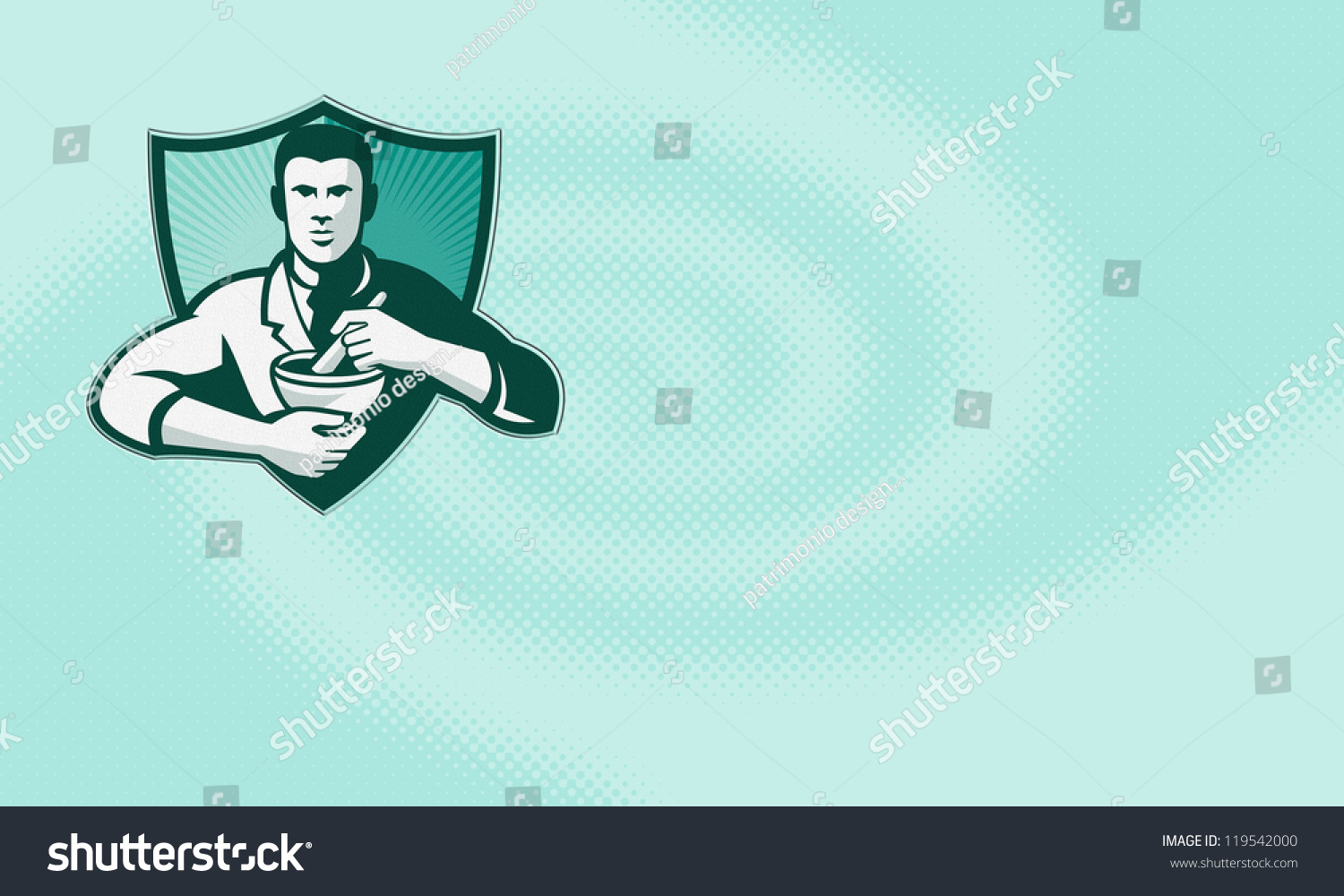 Business Card Ideal Pharmacist Pharmacy Showing Stock Illustration ...