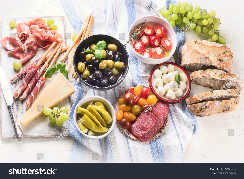 Typical Italian Antipasto Mixed Antipasto Platter Stock Photo Edit Now 1195456453