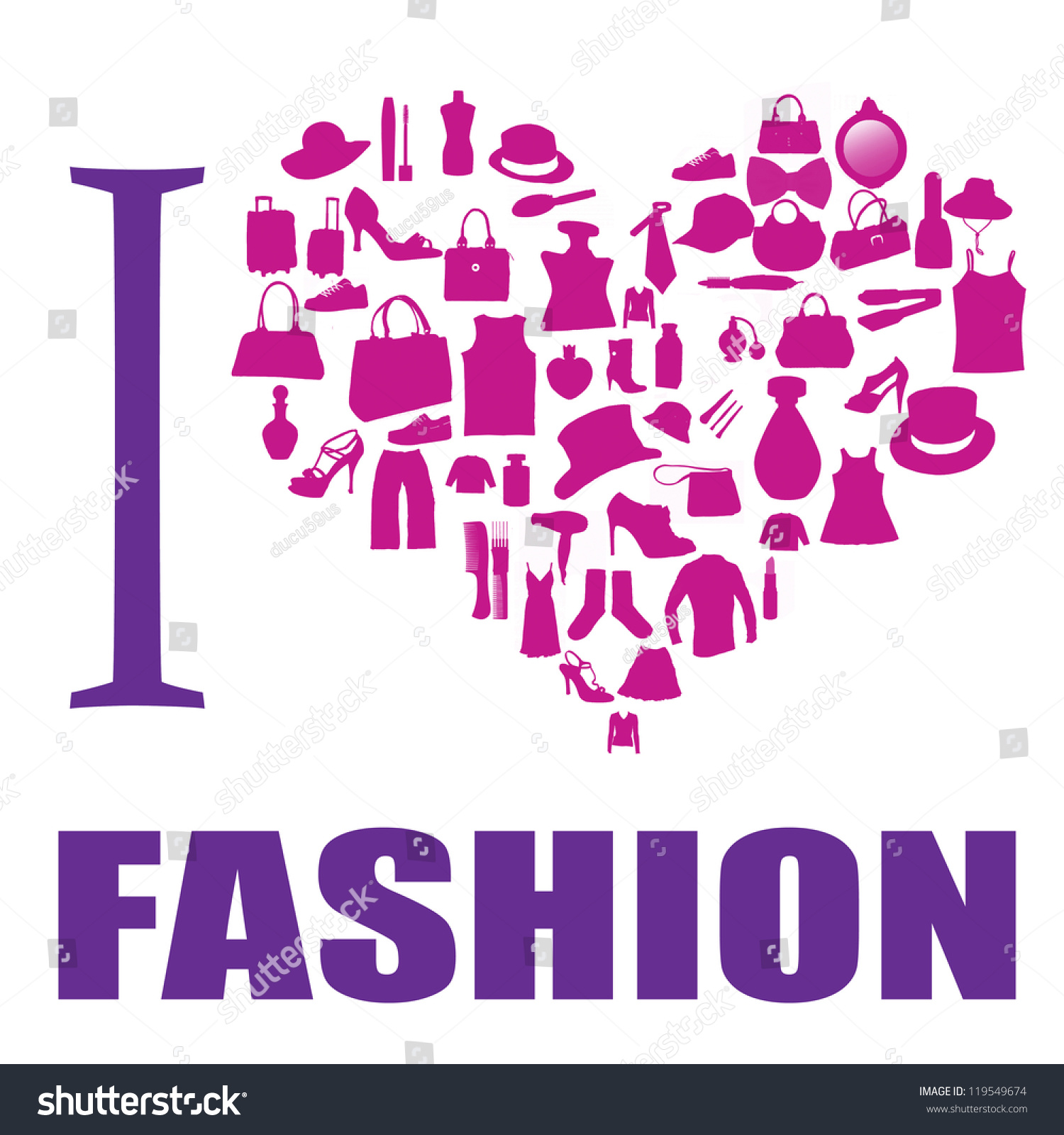 Citaten Love Fashion : Love fashion background heart made different stock vector