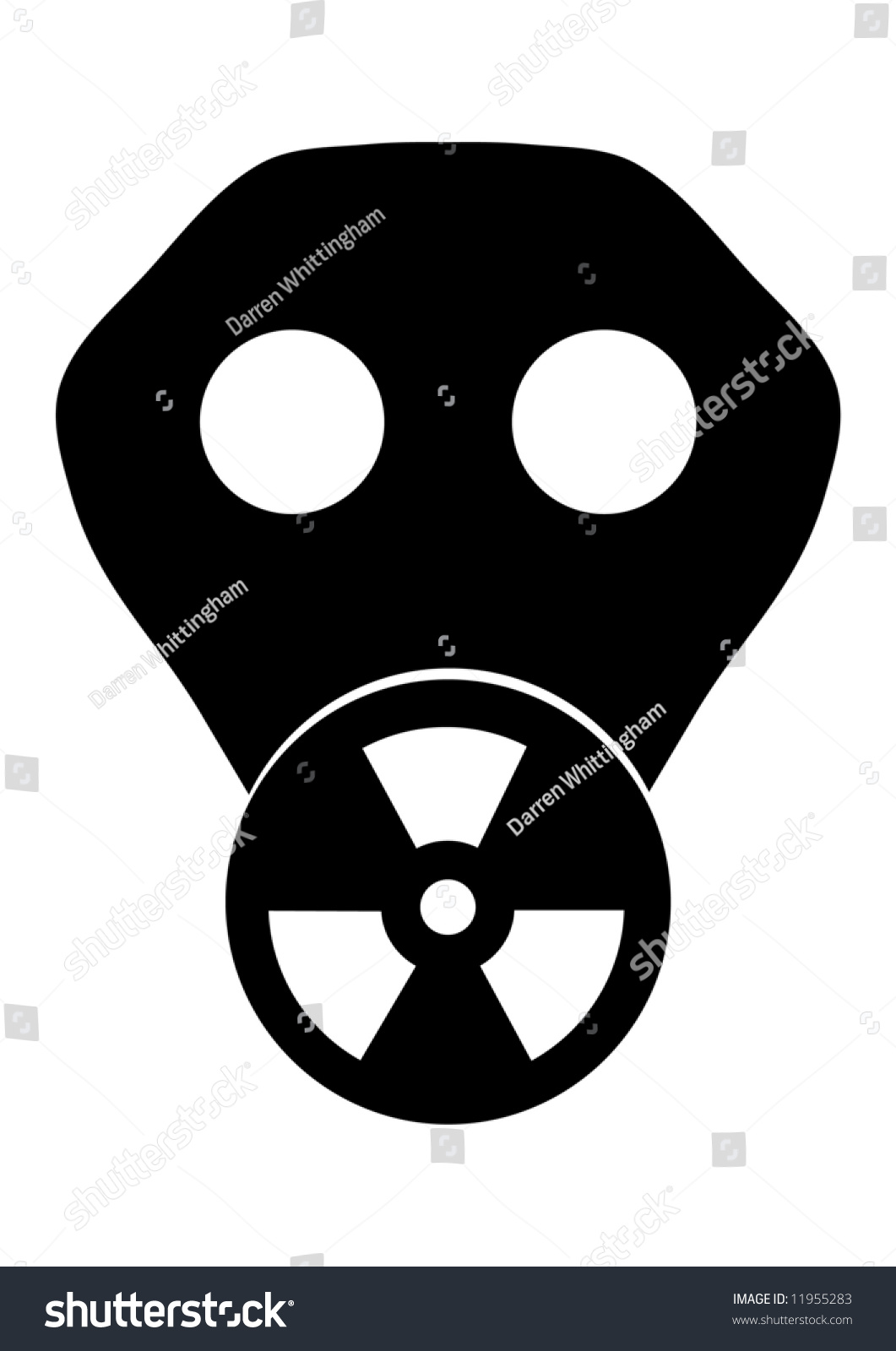 Toxic Symbol Black And White Black White Illustrati...