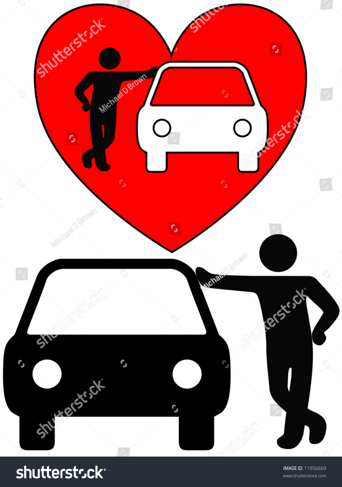 Love car symbol person loving car stock vector 11956669 shutterstock love the car a symbol person as a loving car owner leans on a car biocorpaavc Choice Image