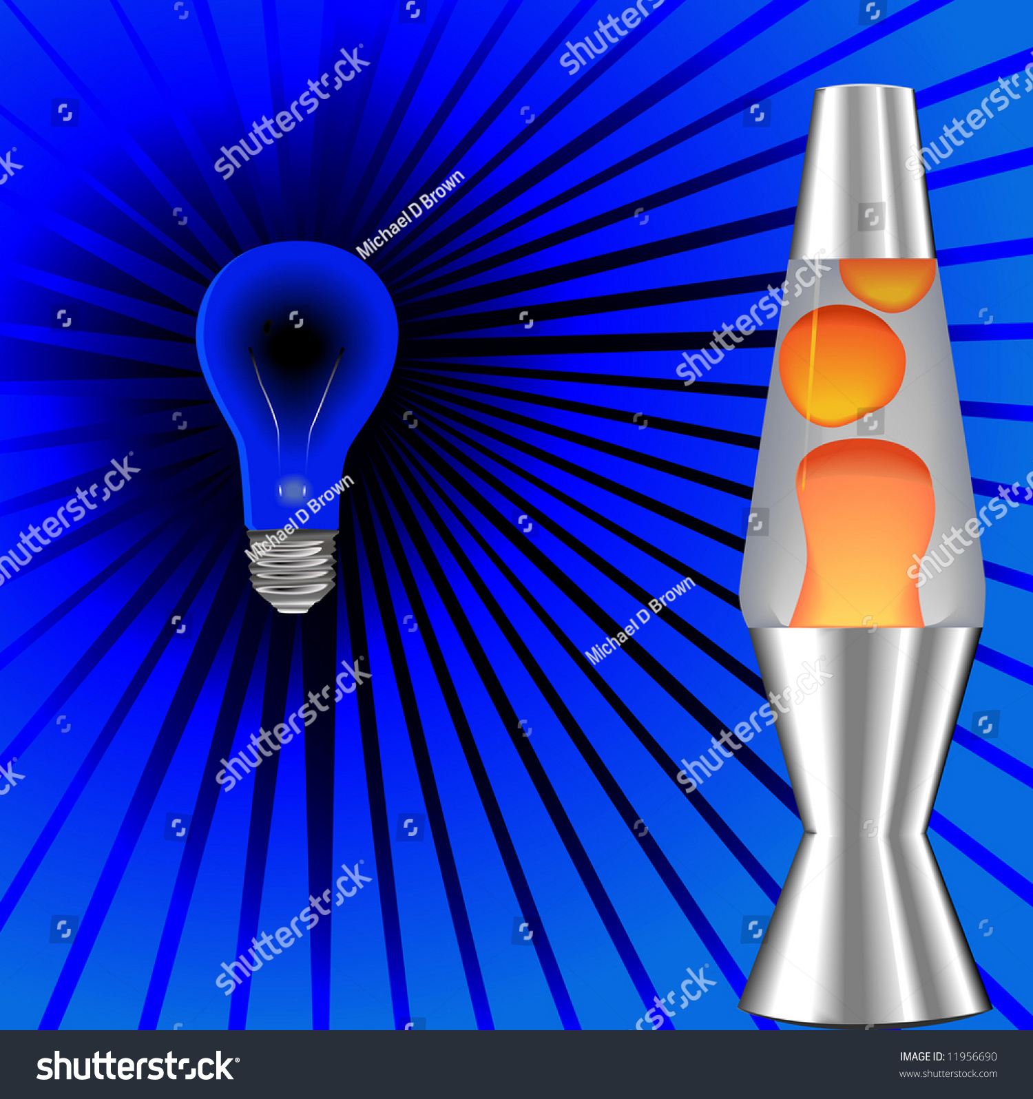 Lava lamp vector - A Psychedelic Blacklight Background With Red Orange Lava Lamp 60 S 70 S On Blue Rays Stock Vector Illustration 11956690 Shutterstock