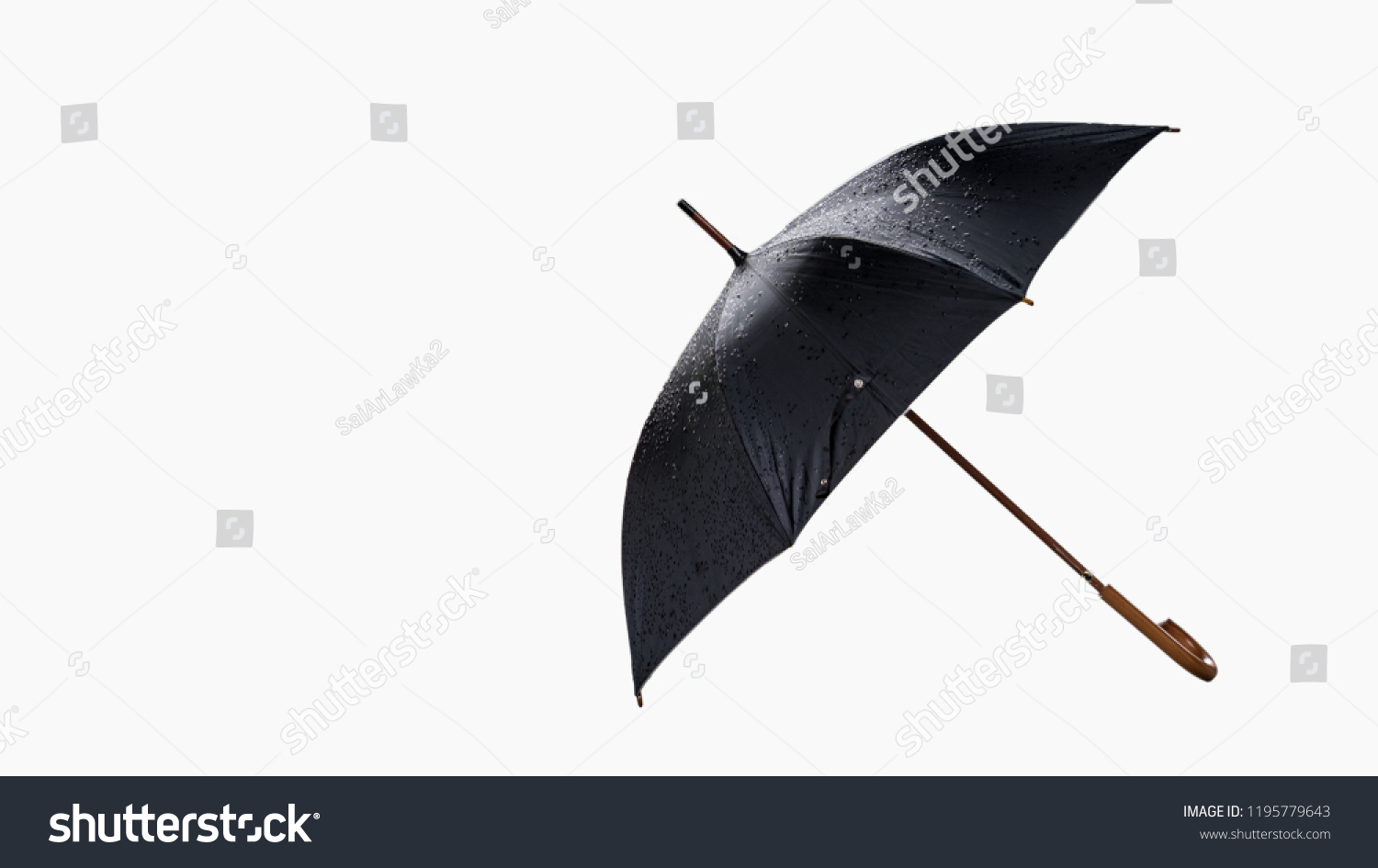 Black Umbrella Cut Out The Background Made Of White