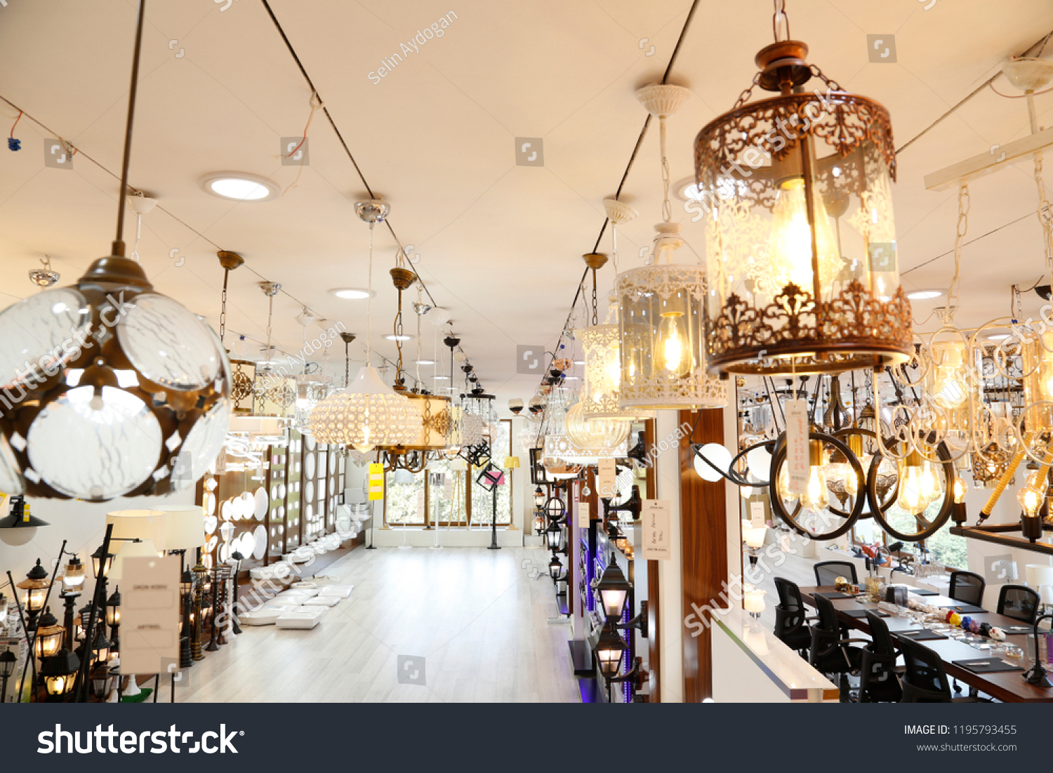 Lights and wall lights in the showroom lighting showroom gallery stainless steel ceiling lights fixture lamps shop lamps crystal chandeliers bulbs