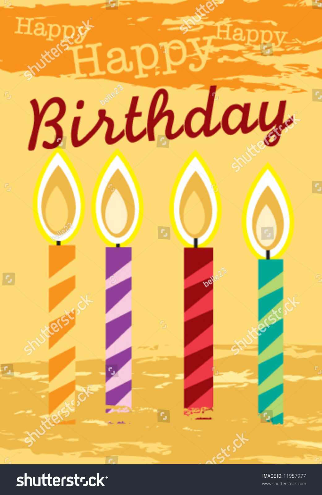 Vector birthday greeting card measures 48125 stock vector 11957977 vector birthday greeting card measures 48125 x 69375 m4hsunfo