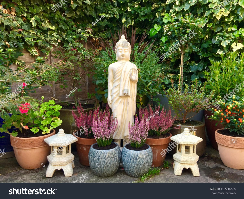 Garden Design Buddhist Elements Stock Photo Edit Now 1195807588