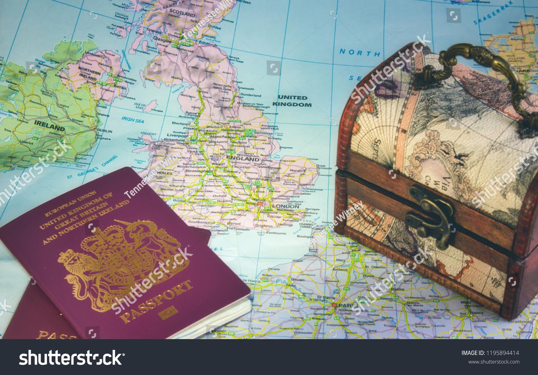 Map Europe Showing UK England Ireland Stock Photo (Edit Now ...