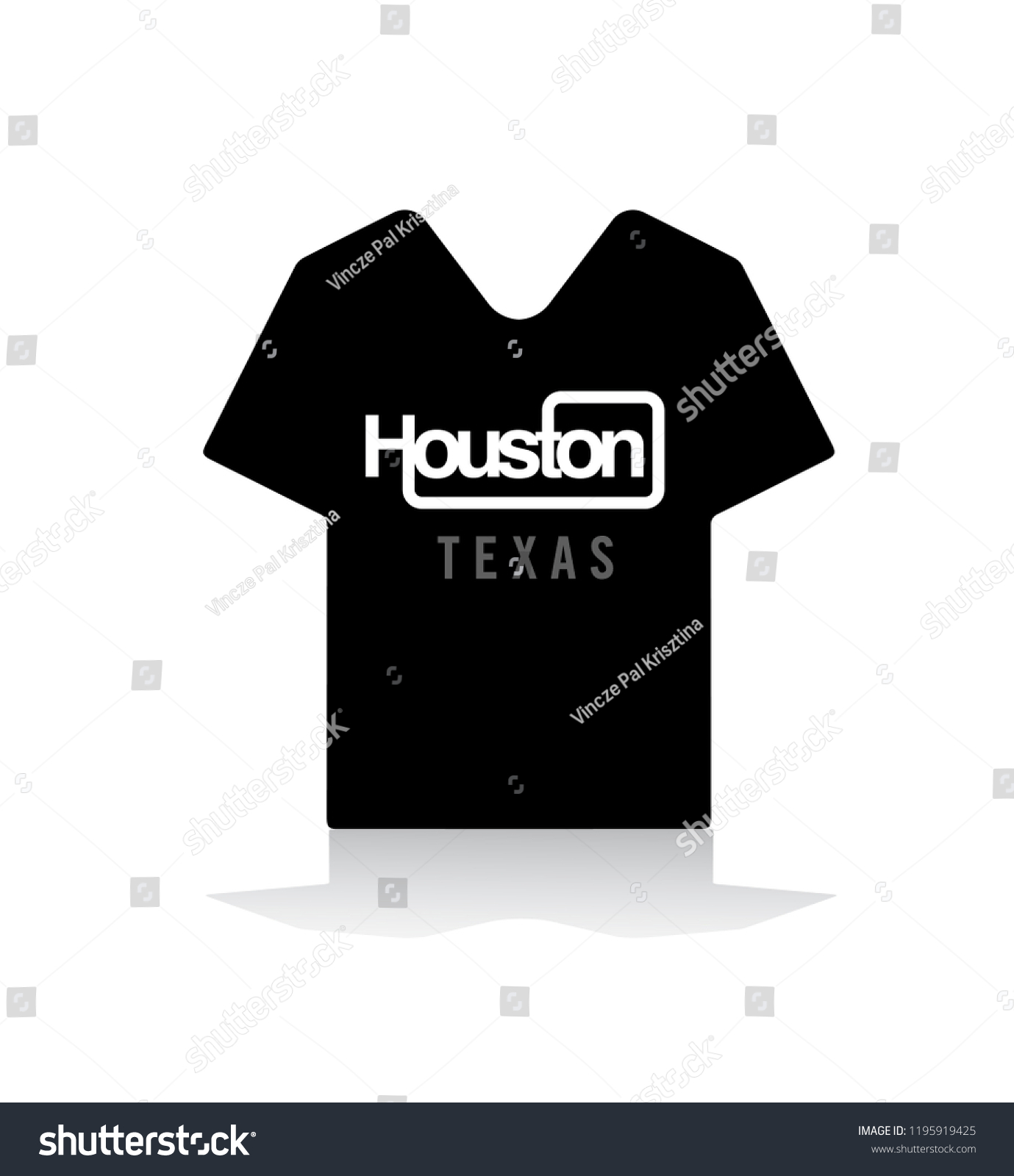 Houston Sticker Emblem T Shirt Design Stock Vector Royalty Free