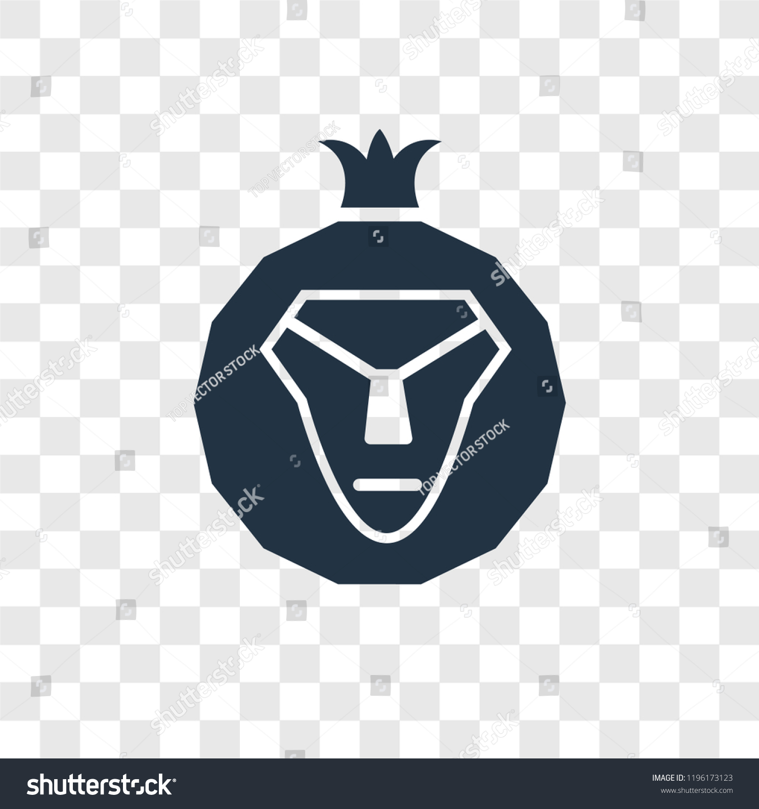 Lion of judah vector icon isolated on transparent background lion of judah transparency logo concept