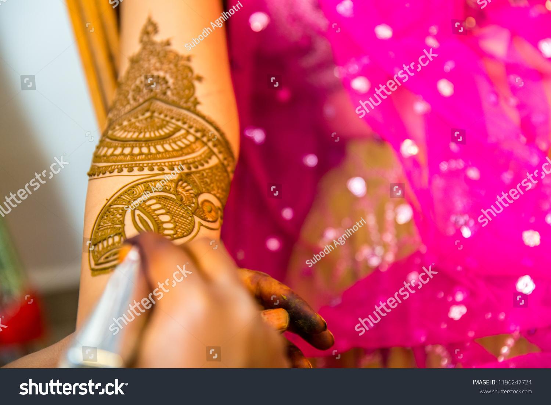 Artist Making Henna Tattoo On Indian Stock Photo Edit Now